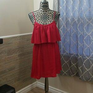 Stunning Red Tier Dress NWOT